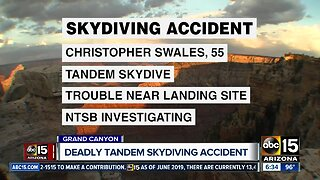 Deadly skydiving accident at the Grand Canyon