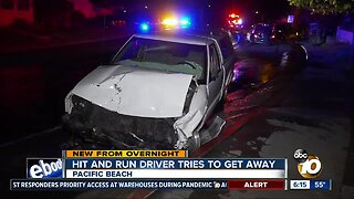 Truck crashes into cars on PB street; driver arrested