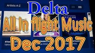 Delta's All In flight Music for December 2017