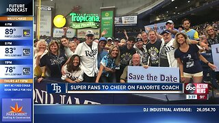 Rays fans travel across country to cheer on team and favorite coach