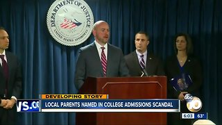 Two San Diegans named in college admissions scandal