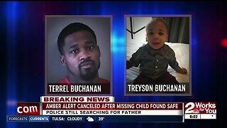 Amber alert cancelled after child is returned home