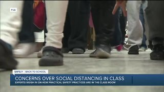 Concerns over social distancing in class