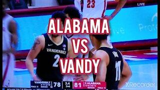 Alabama VS Vanderbilt college basketball