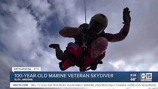 Veteran skydives for 100th birthday