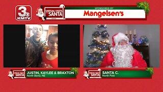 Virtual Santa visit with Justin, Kaylee & Braxton