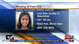 Police searching for missing 8-year-old girl