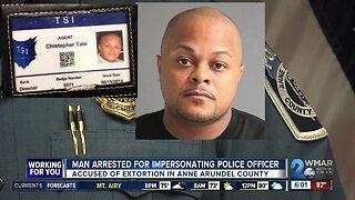 Man arrested for impersonating police officer