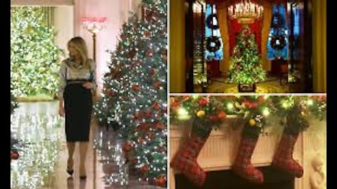 2020 Christmas Decorations at the White House - May Have Qlue's....