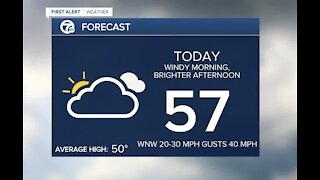 Metro Detroit Forecast: Very windy morning as rain moves out