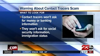 Warning about contract tracers scam