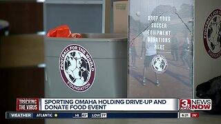 Sporting Omaha hosts food, equipment drive