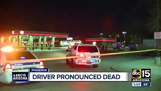 Driver involved in parking lot crash pronounced dead