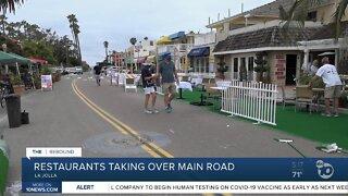 La Jolla restaurants taking over street