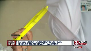Group donates face shields to CHI Health Lakeside