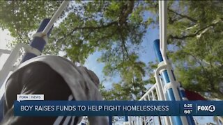Seven-year-old raises money to help homeless