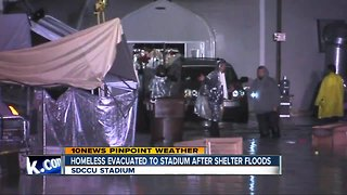 Flooding forces evacuation of downtown homeless shelter