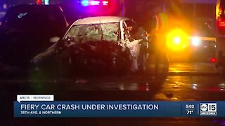 Fiery crash under investigation near 37th Ave and Northern