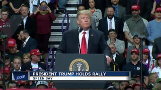 President Trump fires up Green Bay crowd during MAGA rally