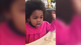 Cute Little Girl has Lots to Say