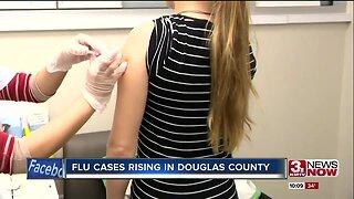 Flu cases rising in Douglas County