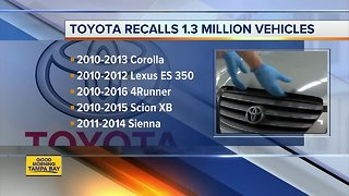 Toyota recalls another 1.7M vehicles to fix air bags