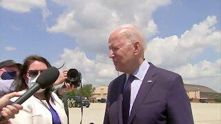 President Biden departs White House for Cleveland