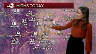 Saturday morning forecast brrr