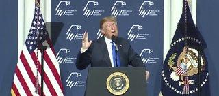 President Trump delivers speech in Vegas