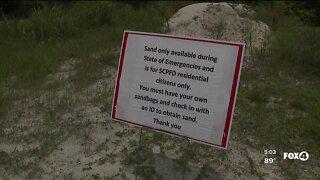 Sand available in San Carlos Park for sandbags