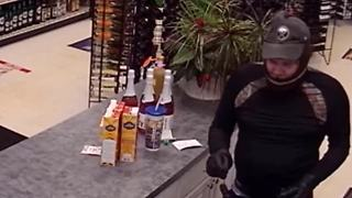 Evans Police search for armed robbery suspect