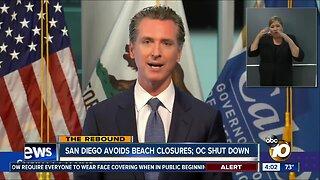 Newsom closing Orange County beaches, avoiding statewide beach ban