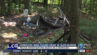 Homeless man found dead in Glen Burnie woods