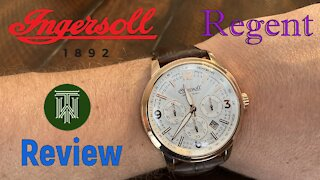 Ingersoll Regent Chronograph 50m Watch - Review & Unboxing (100101 / Miyota OS20)