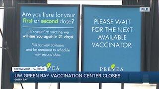 UWGB COVID-19 Vaccination Center Closes