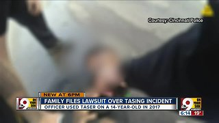 Family sues Cincinnati Police Department over officer's use of Taser on 14-year-old
