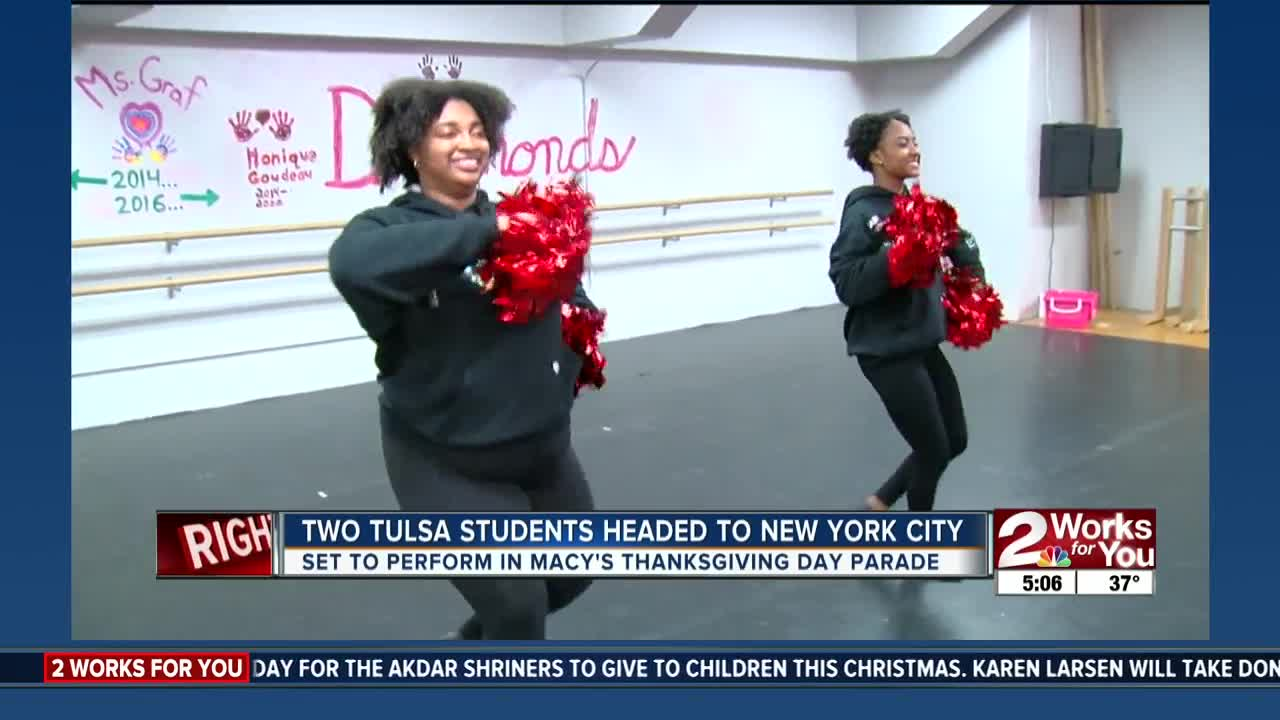 Tulsa students performing in Macy's Thanksgiving parade