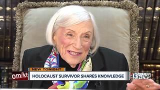 Holocaust survivor shares knowledge