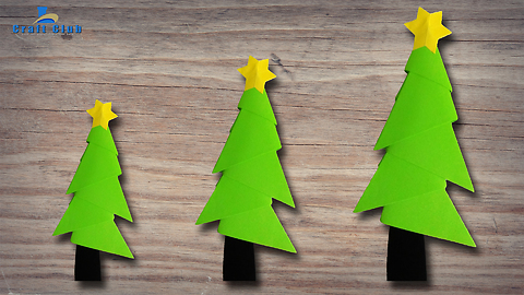 The simplest 3D origami tree Christmas tree | ❤ Lina's Craft Club ❤