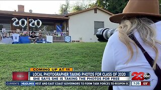 Local photographer taking photos for class of 2020