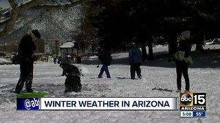 Winter weather in Arizona