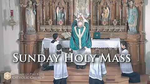 Holy Mass for Sunday, Oct. 17, 2021