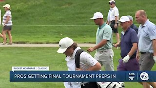 Players get final preps in for Rocket Mortgage Classic