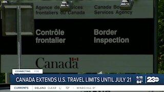 Canada extends U.S. travel limits