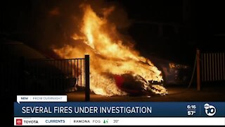 String of fires under investigation in East County