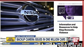 Nissan recalls 1.23 million vehicles due to faulty backup cameras