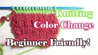 How to Change Color in Your Knittting Project for Beginners