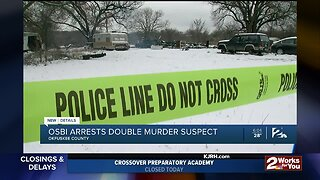 Okemah double homicide suspect found and in custody