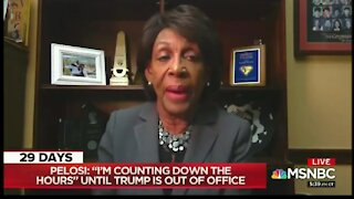 """Dem Panic Starts: Maxine Waters Says Trump Should Be Marched Out Amid """"Rumors"""" He's Trying To Stay"""