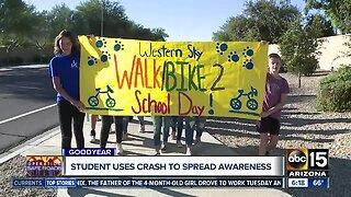 TODAY: Valley kids take part in International Walk to School Day